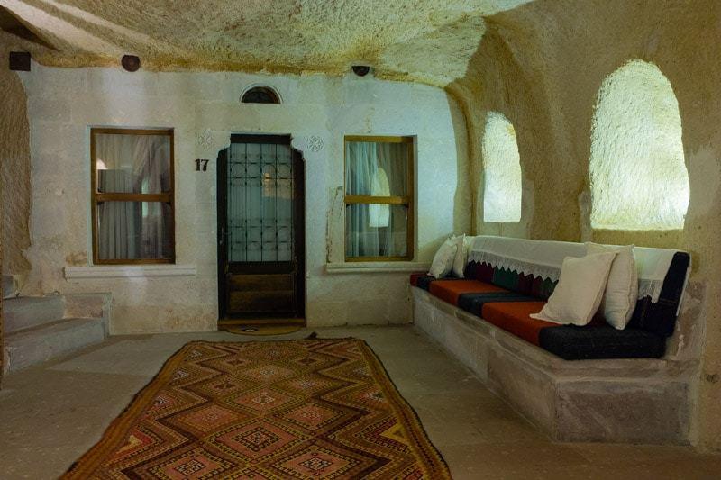 Sitting Area Kale Konak Cave Hotel Uchisar Goreme Best Boutique Hotel Cappadocia