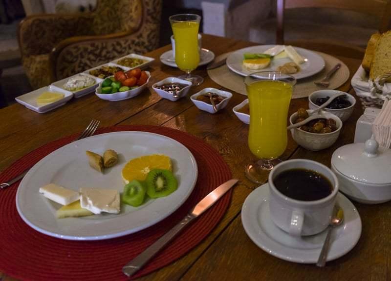 Breakfast Kale Konak Cave Hotel Uchisar Goreme Best Boutique Hotel Cappadocia