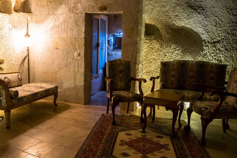 Sitting Area Best Accommodation In Goreme Cappadocia Imperial Cave Hotel