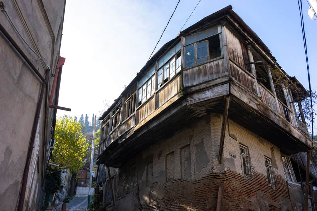 Old Building Street Photography In Tbilisi