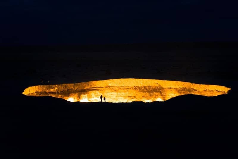 Darvaza Gas Crater Camping At The Door To Hell Turkmenistan