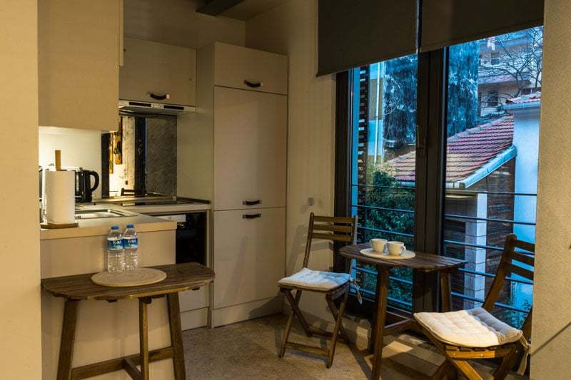 Kitchen Hammamhane Apart Hotel Accommodation For Digital Nomads In Istanbul Turkey