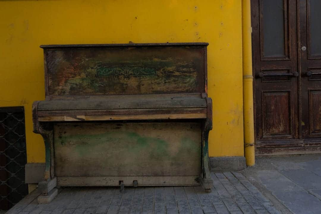 Piano Street Photography In Tbilisi