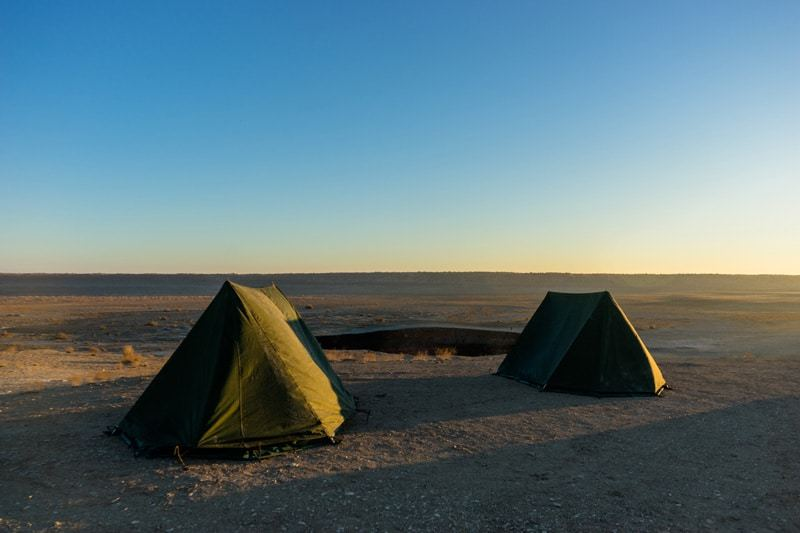 Tents Darvaza Gas Crater Camping At The Door To Hell Turkmenistan