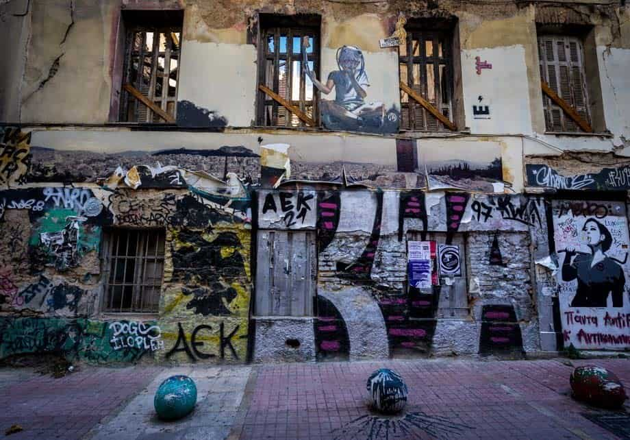 Graffiti Art Street Scenes Of Athens