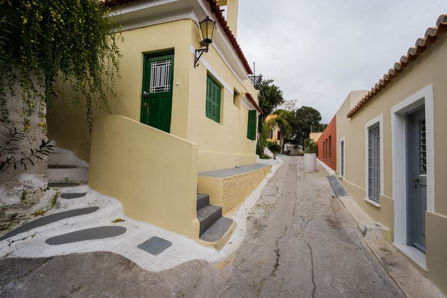 Anafiotika Street Scenes Of Athens
