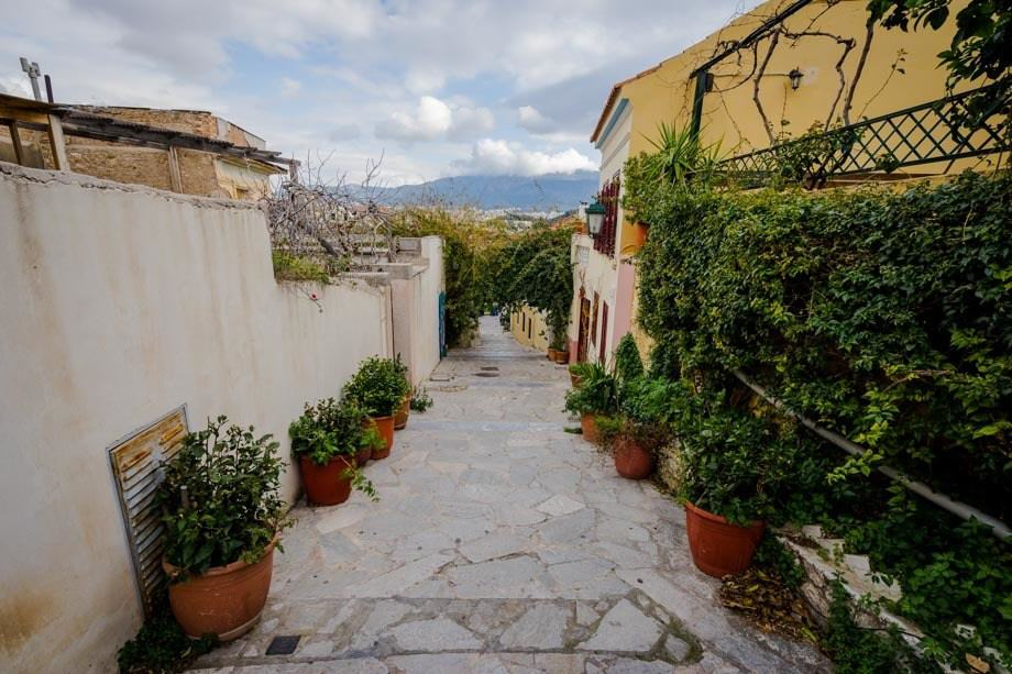 Anafiotika Neighbourhood Street Scenes Of Athens