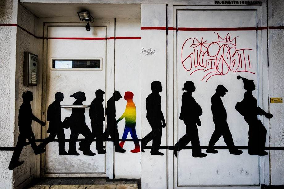 Colourful Silhouette Street Scenes Of Athens