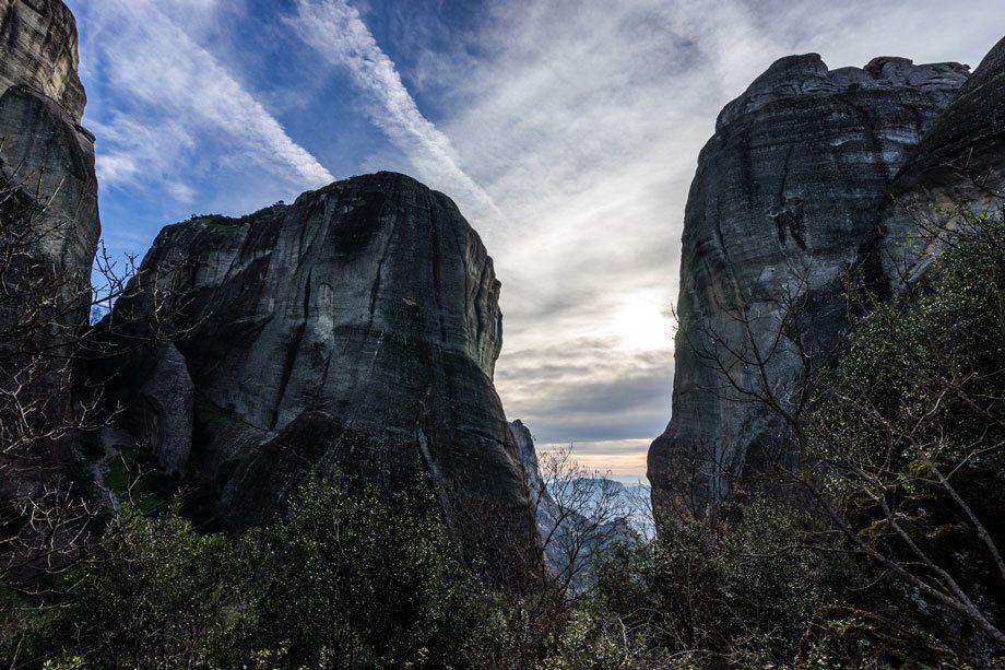 Cool Sky Great Saint Climb Via Ferrata Meteora Greece