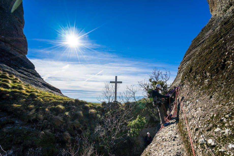 Kostas Cross Great Saint Climb Via Ferrata Meteora Greece