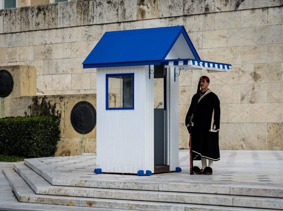 Parliament House Guard Street Scenes Of Athens