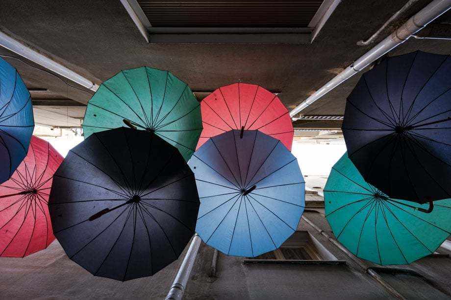 Umbrellas Street Scenes Of Athens