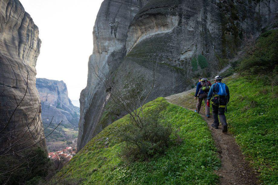 Hiking Trail Great Saint Climb Via Ferrata Meteora Greece