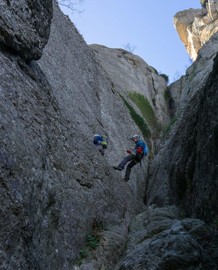 Jazza Abseiling Great Saint Climb Via Ferrata Meteora Greece