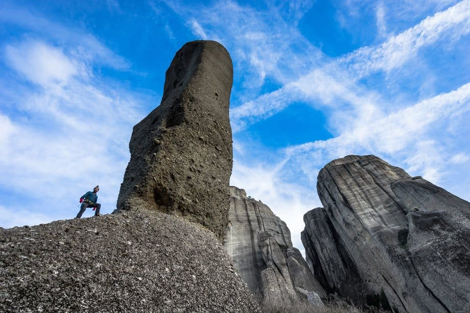 Spindle Great Saint Climb Via Ferrata Meteora Greece