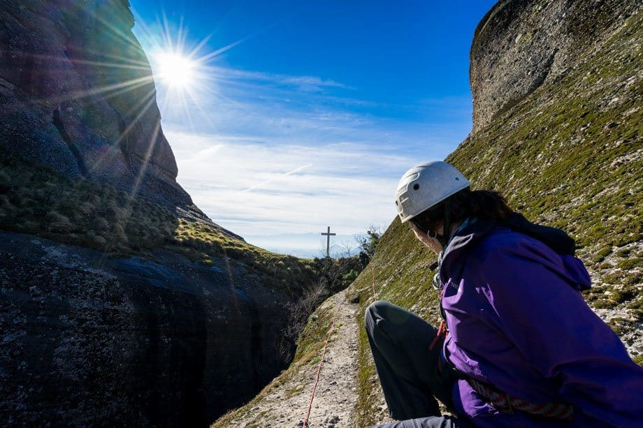 Lesh And Cross Great Saint Climb Via Ferrata Meteora Greece