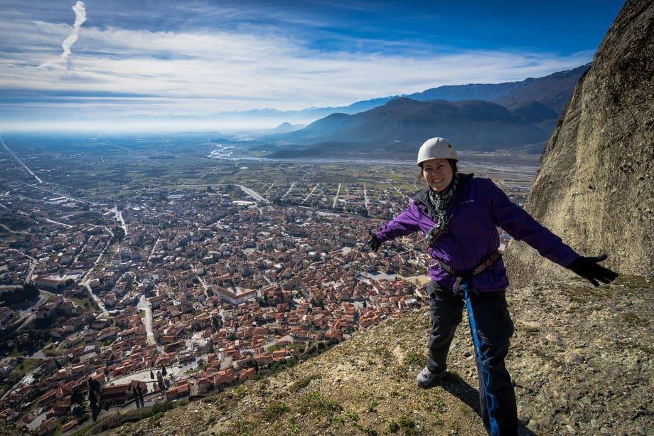 Lesh Views Great Saint Climb Via Ferrata Meteora Greece