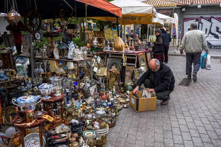 Flea Markets Street Scenes Of Athens