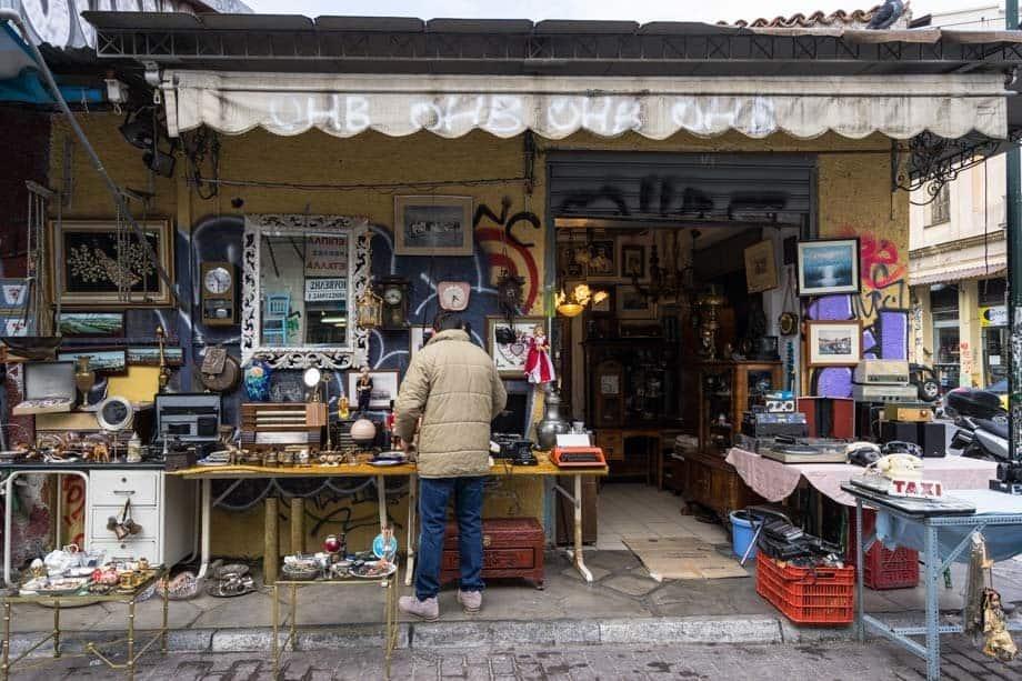 Monastiraki Flea Market Street Scenes Of Athens