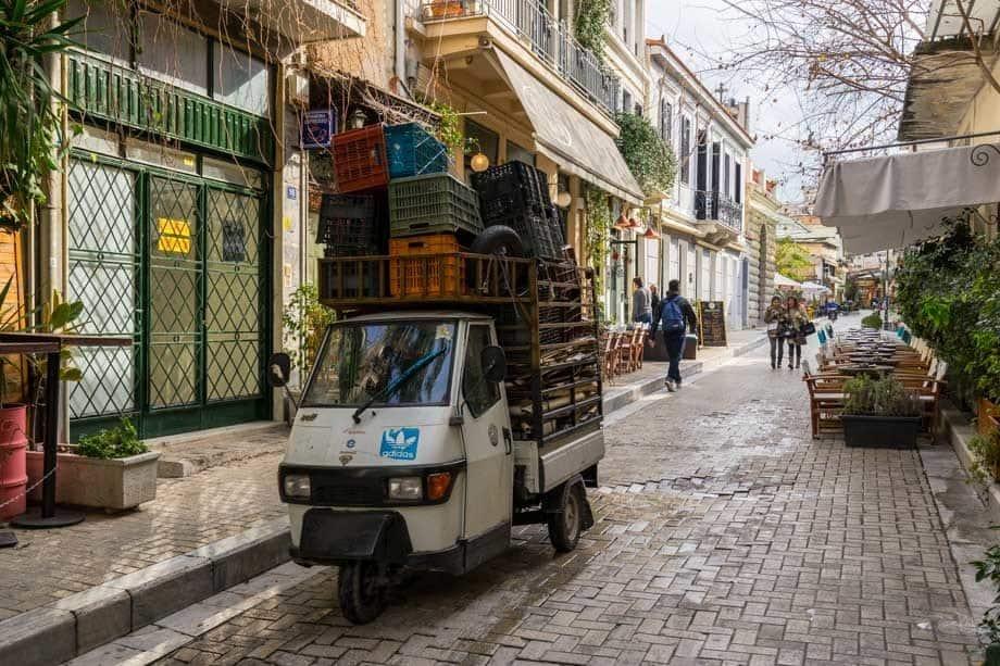 Trishaw Street Scenes Of Athens
