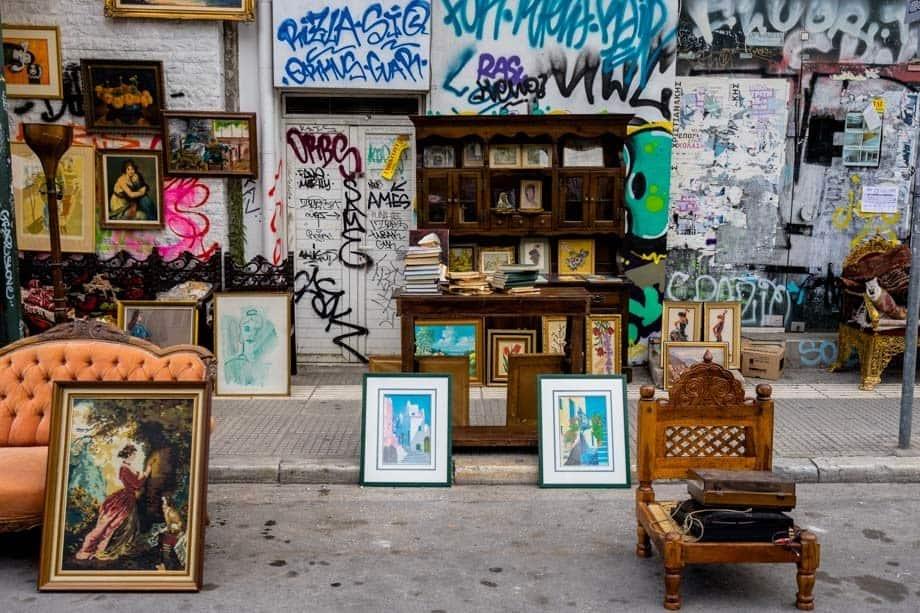 Flea Market Street Scenes Of Athens