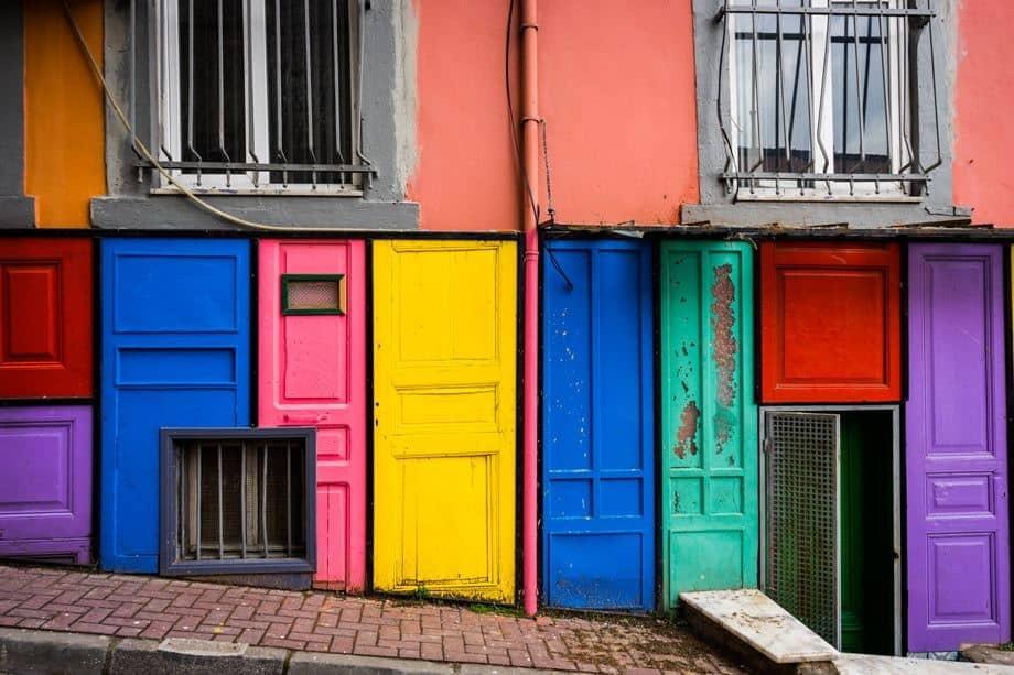 Colourful Doors Istanbul