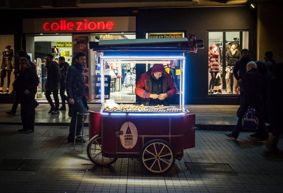 Chestnut Vendor Istanbul