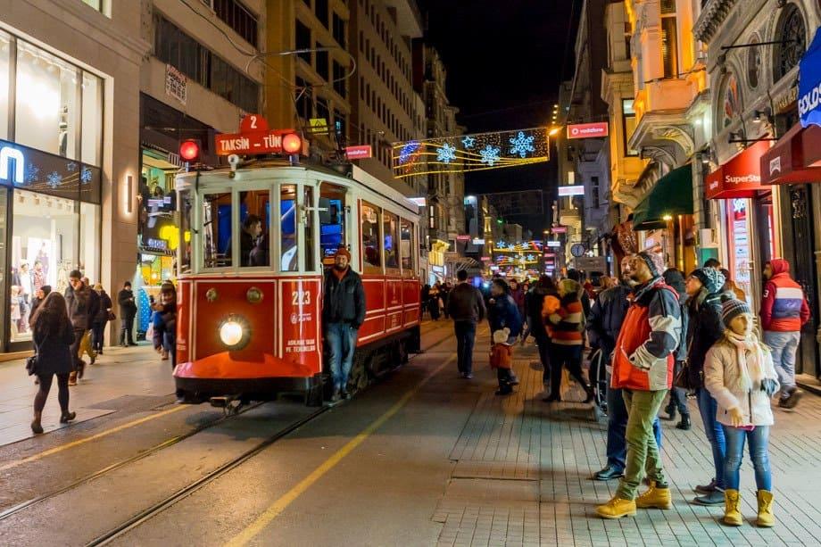 Tram Istiklal Street Istanbul