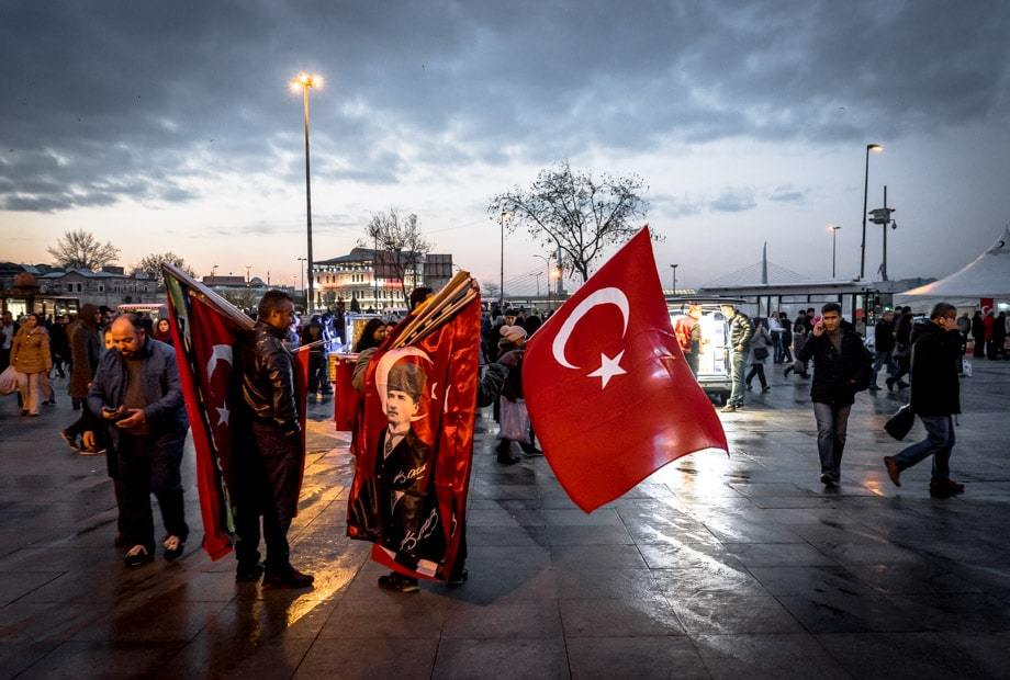 Turkish Flags Istanbul