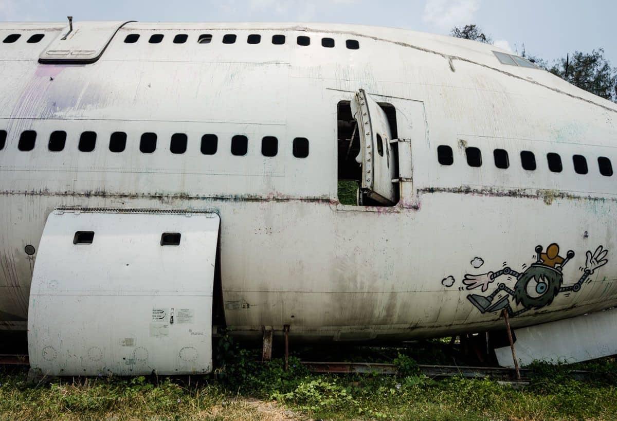 Graffiti 747 Bangkok's Airplane Graveyard