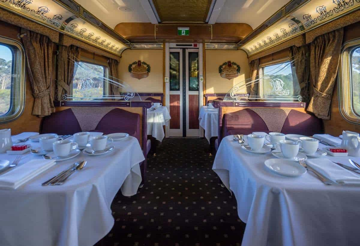 Queen Adelaide Dining Room Indian Pacific Rail Journey