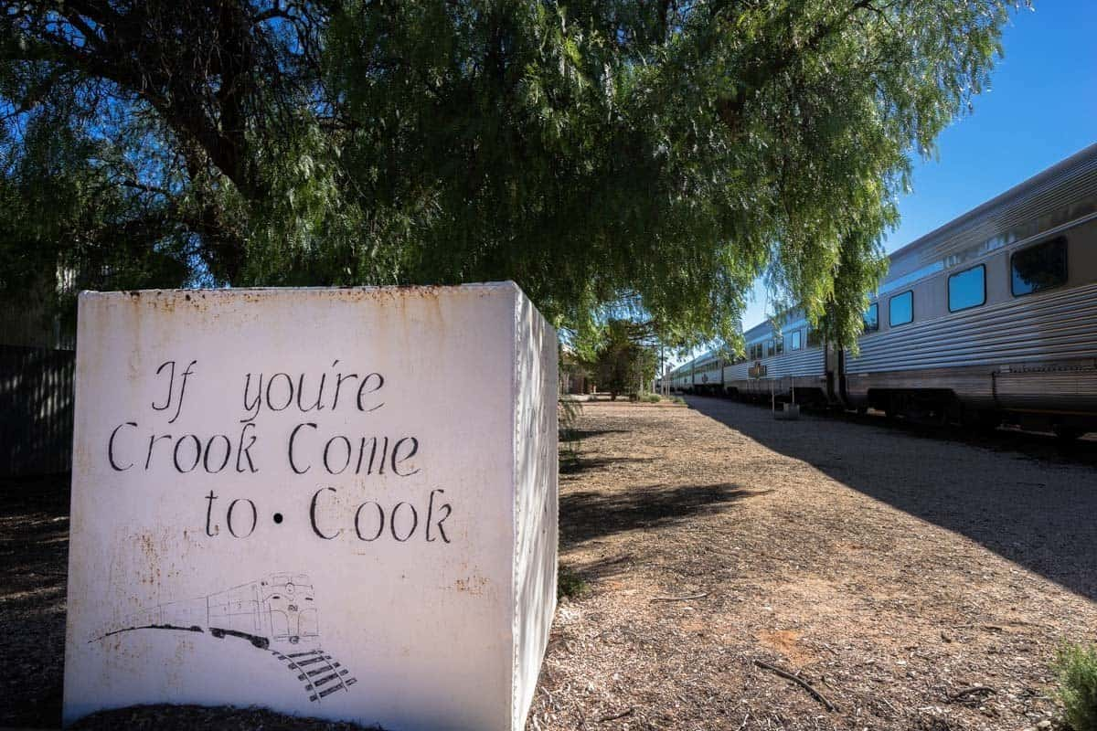 Famous Cook Sign Indian Pacific Rail Journey #Journeybeyond