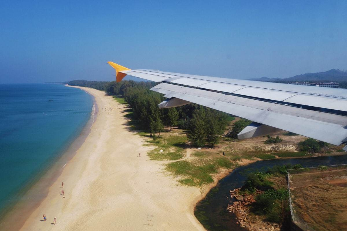 Flying Into Phuket