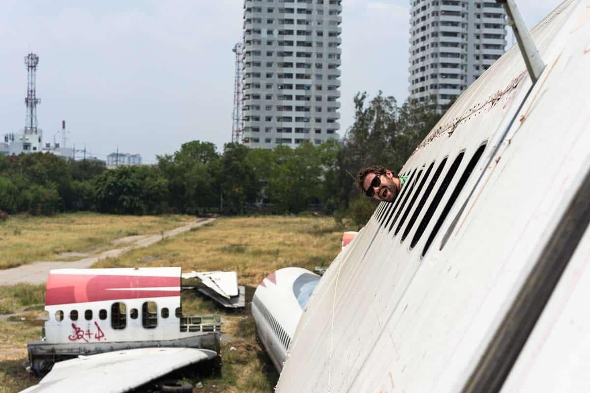 Jazza's Head Bangkok's Airplane Graveyard