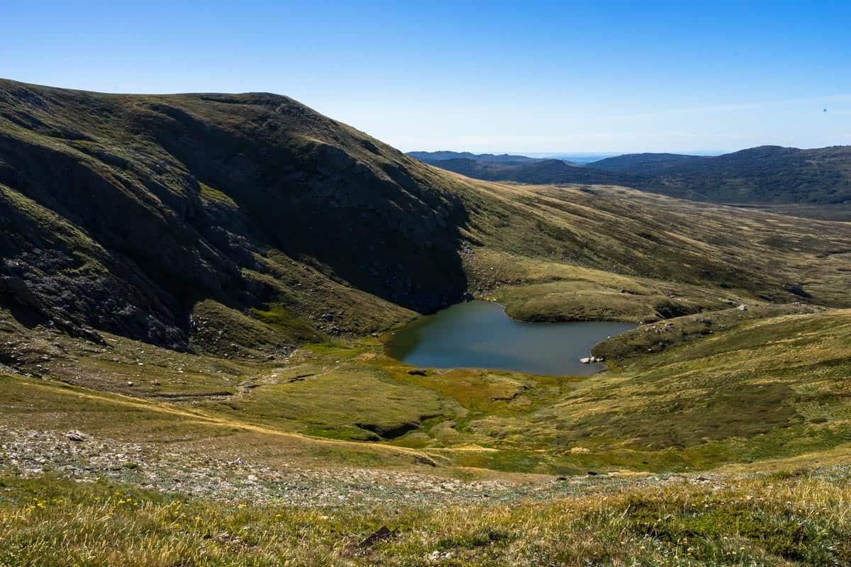 Alpine Lake Climbing Mount Kosciuszko