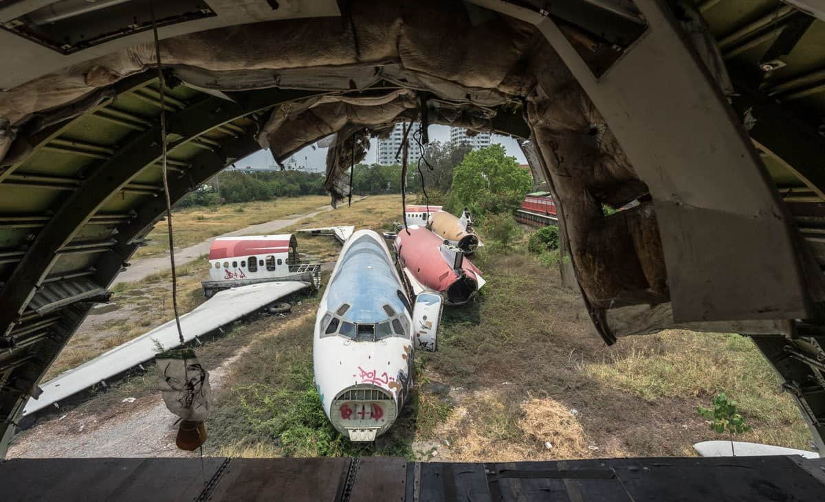 Back View Bangkok's Airplane Graveyard
