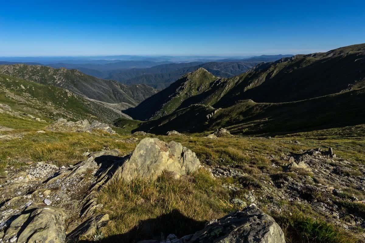 Snowy Mountains View Climbing Mount Kosciuszko