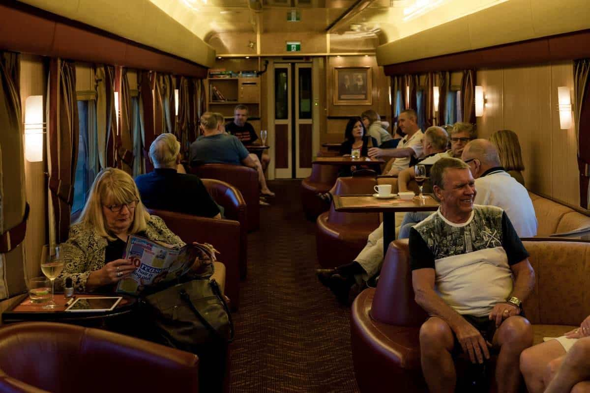 Gold Lounge Indian Pacific Rail Journey