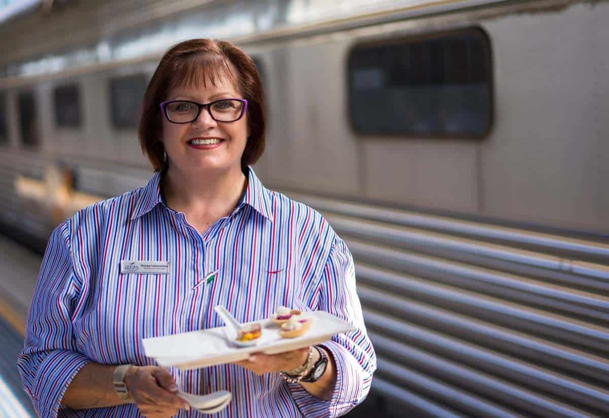 Sonya Canapes Indian Pacific Rail Journey