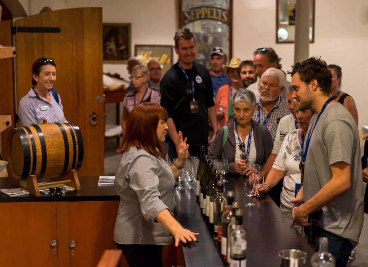 Wine Tasting Seppeltsfield Indian Pacific Rail Journey #Journeybeyond