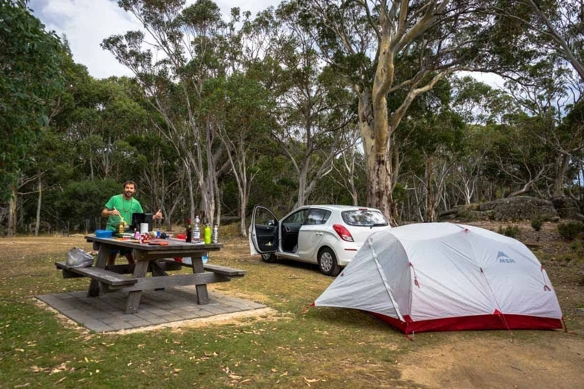 Camping Spot Kosciuszko New South Wales Road Trip