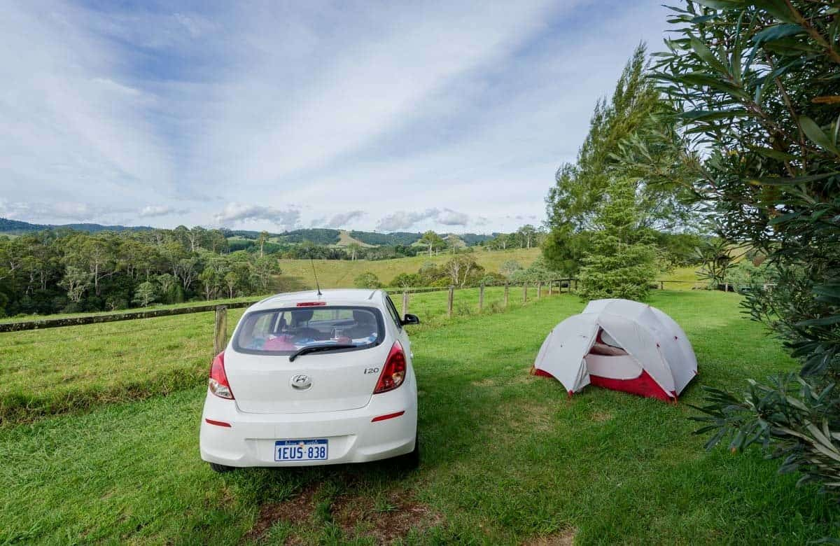 Car Tent MSR Economy Bookings New South Wales Road Trip