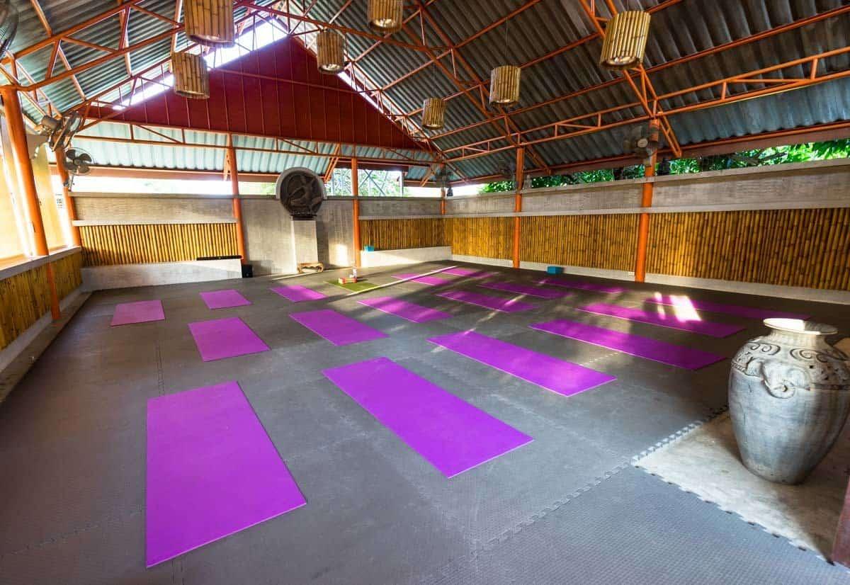 Morning Yoga Friendship Beach Resort Atmanjai Wellness Spa Detox Thailand