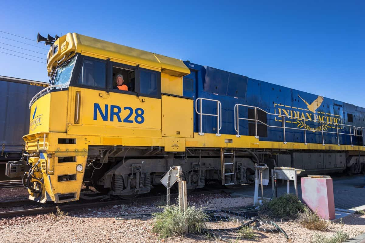 Driver Indian Pacific Rail Journey