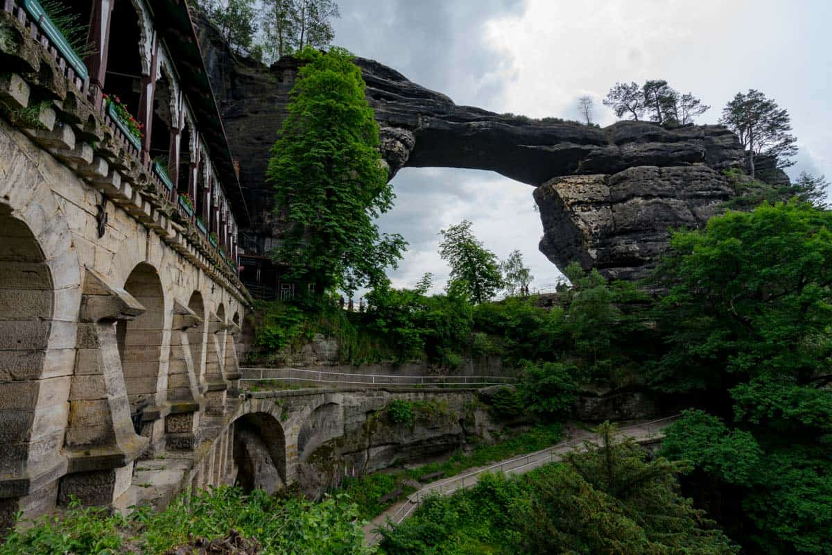 Largest Natural Sandstone Arch In Europe Hiking Bohemian Switzerland National Park