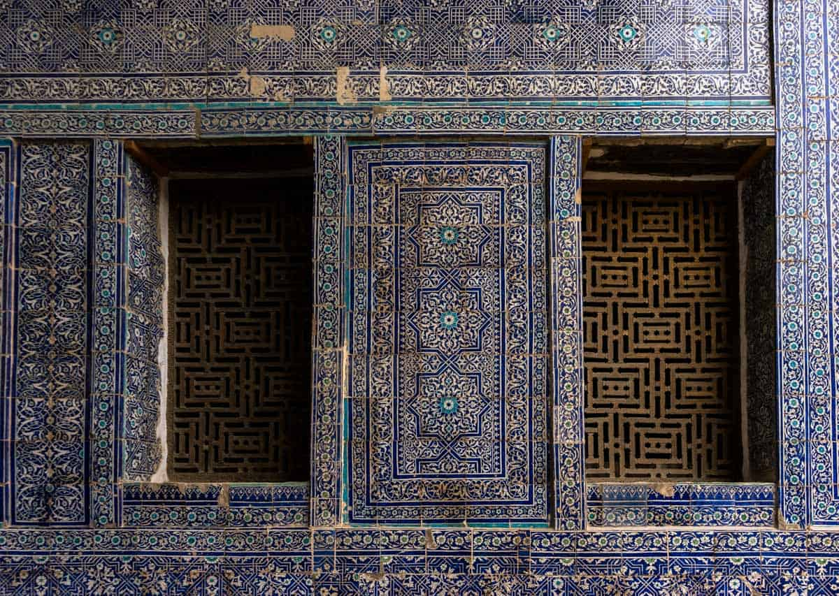 Blue Tiles Uzbekistan Photography