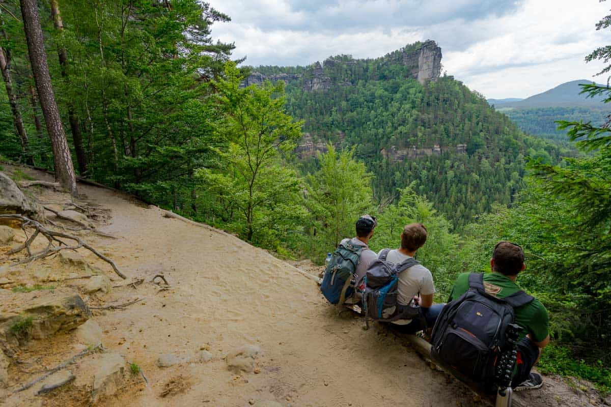 Boys View Hiking Bohemian Switzerland National Park