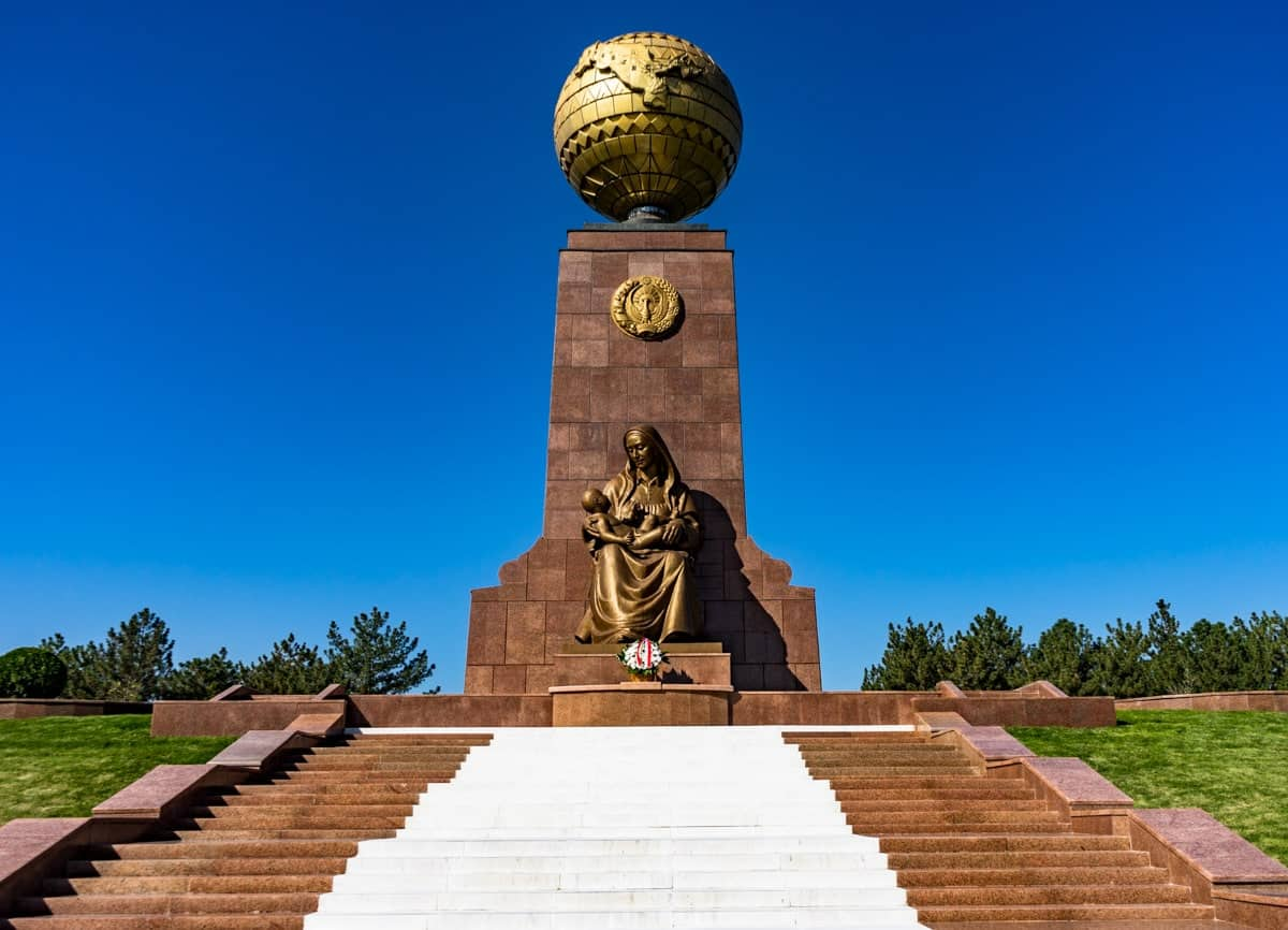 Golden Statue Uzbekistan Photography