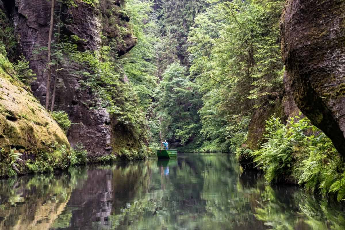 Boat Ride Hiking Bohemian Switzerland National Park
