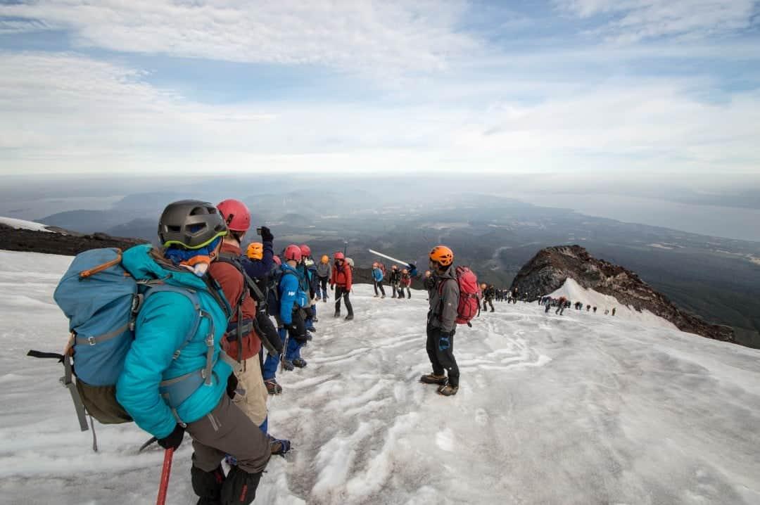Ice Climbing On Volcan Villarrica.